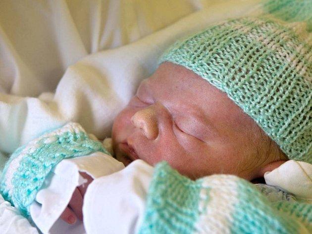 Malý Honzík, který se narodil v olomoucké porodnici 29. února 2012