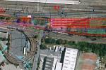 Hala pro odstav tramvají je plánována u současné smyčky ve Fibichově ulici nedaleko hlavního nádraží