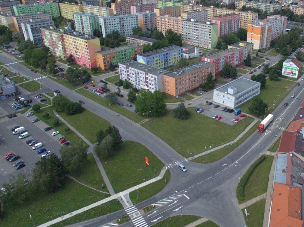 Rozšíření tramvajové trati na Nové Sady a do Slavonína. Na snímku je vizualizace - stav před - Rooseveltova - Zikova ulice