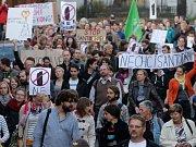 Veřejný protest proti stavbě Šantovka Tower v Olomouci