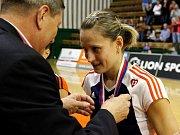 Veronika Tinklová. Olomoucké volejbalistky vybojovaly s Brnem extraligový bronz