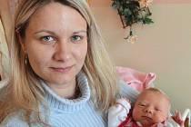 Tereza Táborská, Červenka, narozena 24. března v Olomouci, míra 48 cm, váha 2750 g.