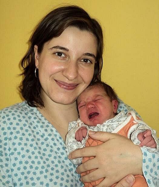 Kristýna Žižlavská, Samotišky, narozena 13. prosince ve Šternberku, míra 47 cm, váha 3000 g.