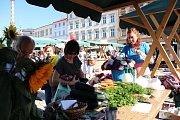 DED v Olomouci - farmářský trh na Dolním náměstí