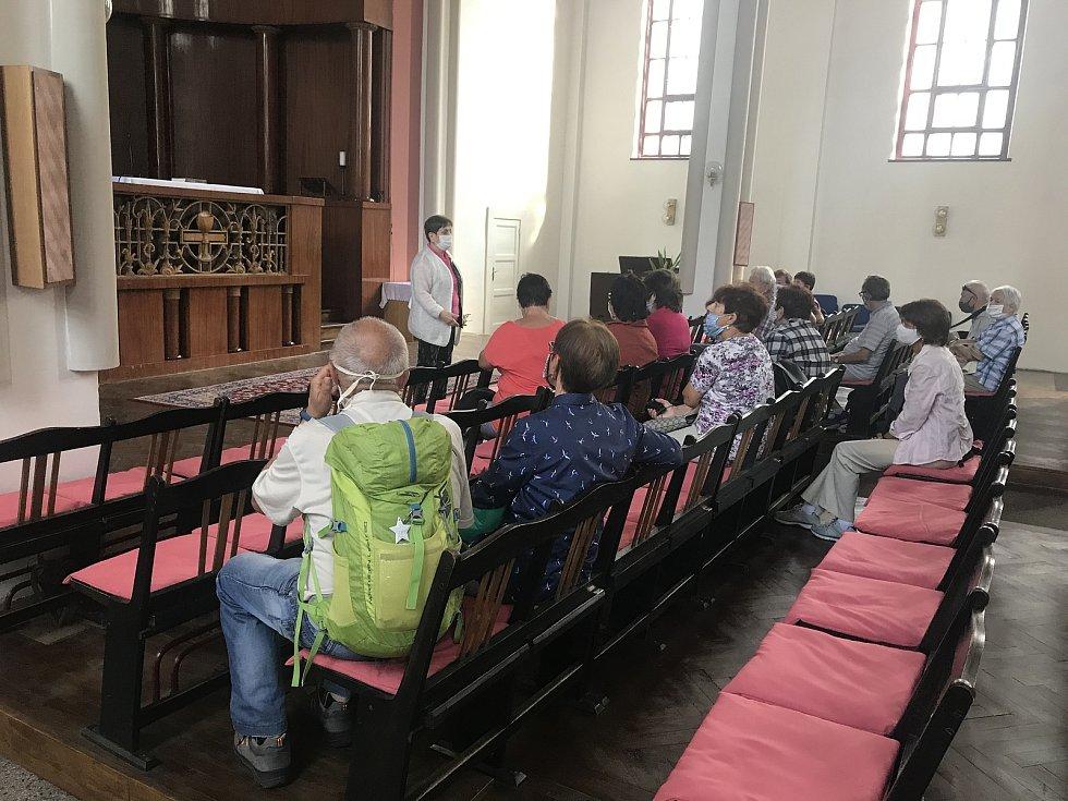 Husův sbor, kde probíhají komentované prohlídky, 12. září 2020