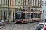 Tramvaje v ulici 8. května v centru Olomouce musí jezdit maximální rychlostí 5 km/h