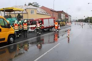 Nehoda v Přerovské ulici, Olomouc 5. 10. 2019