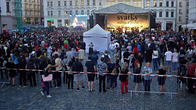Svátky města na sobotním Horním náměstí v Olomouci.