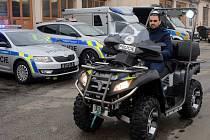 Představení nových policejních vozů v Olomouci