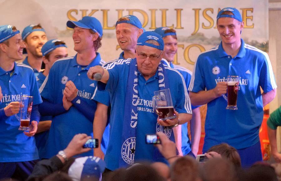 Sigma s fanoušky slaví zisk poháru a loučí se Petrem Uličným a Radimem Kučerou