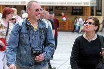 Turisté v Olomouci. Ilustrační foto