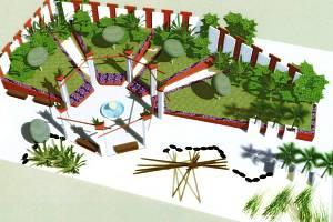 Vizualizace Zahrady Getsemanská v pavilonu H