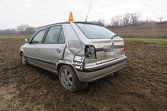 Následky nehody mezi Přerovem a Krčmaní