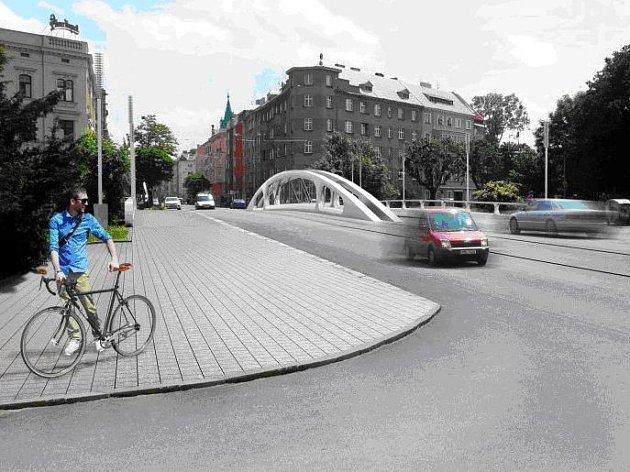 Budoucí Renderův most na Masarykově třídě v Olomouci