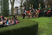 Před bitvou u Slavkova. Vojska z napoleonských válek se střetla u zámku v Náměšti na Hané