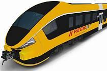 Vlak PESA Link2, který chce RegioJet nasadit na trať Olomouc - Krnov