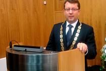 Olomoucký primátor Antonín Staněk na prvním zasedání zastupitelstva v pondělí 10. listopadu 2014