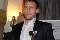 Útočník Sigmy Michal Hubník na vyhlášení Nejlepšího sportovce Olomouce 2010