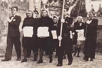 Bílá sobota v roce 1945 v Bohuňovicích.