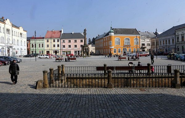 Opravené náměstí Přemysla Otakara vLitovli