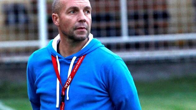 Trenér Hněvotína Ivo Lošťák