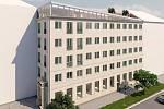Vizualizace přestavby domu na adrese Masarykova 50 nedaleko olomouckého hlavního nádraží
