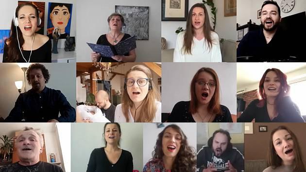 Nezoufej  - píseň nazpívaná členy souboru opery a operety Moravského divadla Olomouc