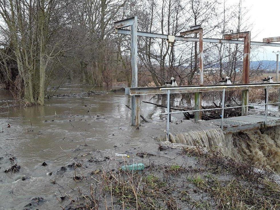 Následky silných dešťů v Olomouckém kraji, 4.2. 2020