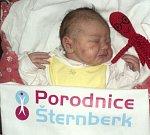 Tereza Černochová, Olomouc, narozena 8. ledna ve Šternberku, míra 50 cm váha 3200 g