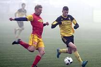 Fotbalisté Nových Sadů (ve žlutém) porazili Frýdlant 3:1.