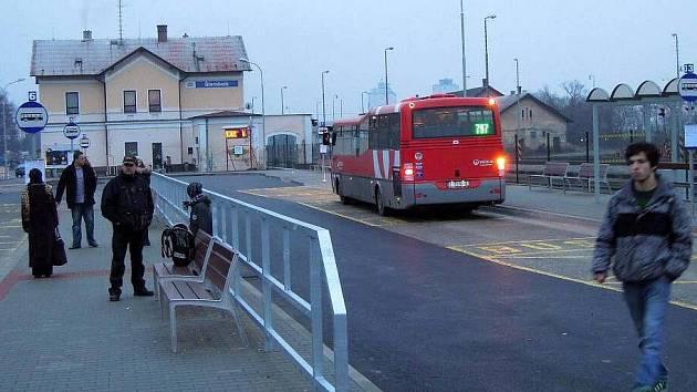 Autobusové nádraží ve Šternberku.