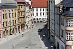 Pohled z vrcholku Mariánského sloupu v Olomouci