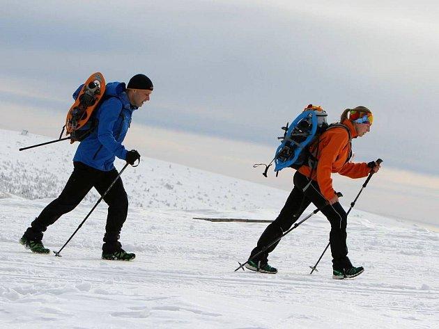 Extrémní outdoor – survivalový závod Zimní výzva v Jeseníkách. Ilustrační foto