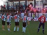 Fotbalisté z Hodolan opět slaví po roce opět postup