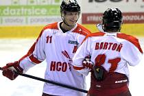 Olomoučtí hokejisté v přípravě proti Havířovu