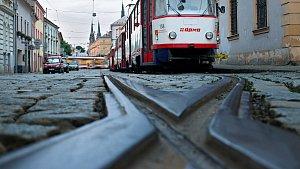 Tramvaje v Sokolské ulici v Olomouci.