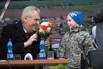 Prezident Zeman v Hněvotíně