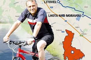 Na kole s hejtmanem Litovelským Pomoravím