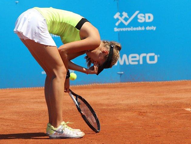 ITS CUP 2013, první kolo. Barbora Štefková - Barbora Záhlavová-Strýcová.