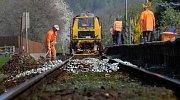Oprava na trati Olomouc - Krnov ve Velké Bystřici