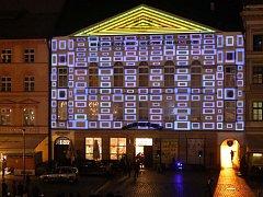 Videomappingová projekce na budovu Moravské filharmonie v Olomouci