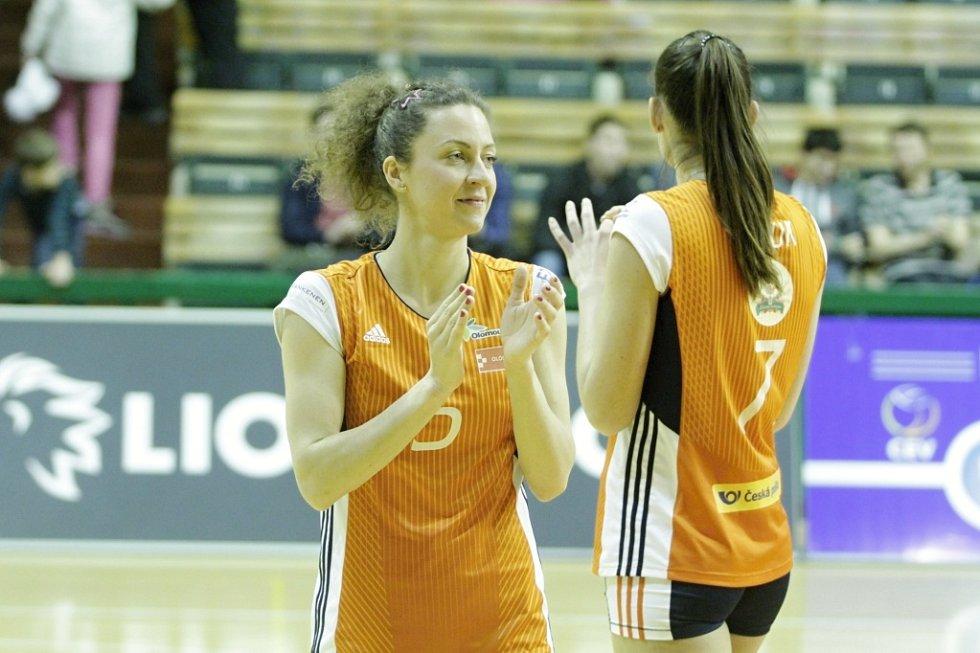 Olomoucké volejbalistky porazily v evropském poháru CEV nizozemské Almelo a postoupily do další fáze soutěže. Šárka Kubínová