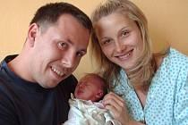 Natálie Bortlová, Moravský Beroun, narozena 29. července ve Šternberku, míra 48 cm, váha 2800 g