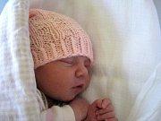 Adéla Hufová, Slatinice, narozena 20. dubna v Olomouci, míra 49 cm, váha 2970 g