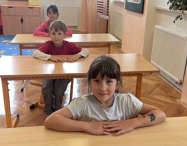 Žáci 1.třídy ZŠ a MŠ Babice