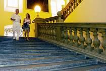 Tzv. Andělské schody ve vojenské nemocnici na Klášterním Hradisku pochází z konce 17. století