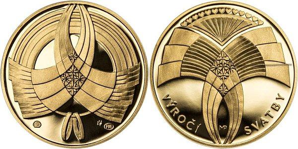 Pražská mincovna motiv razí vluxusním zlatém (snímek), ale ivcenově přijatelnějším stříbrném provedení