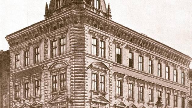 Poznáte k čemu sloužila  budovu na snímku? A jaká instituce zde ve třicátých letech 20. století sídlila?