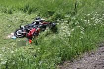 Střet motorky se srnou u Moravského Berouna, 2. 6. 2019