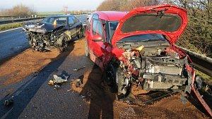 Nehoda na D35 u Křelova